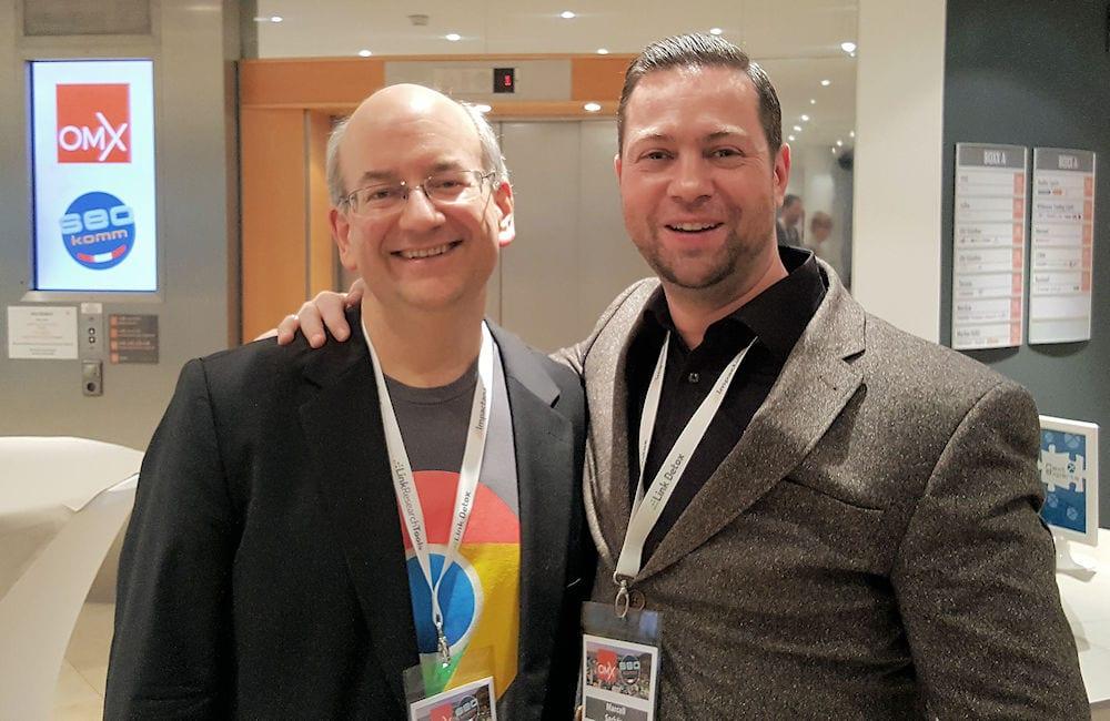 JohnMu und Marcell Sarközy Seodeluxe auf der SEOkomm 2017